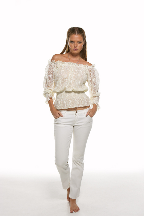 Christina Makowsky The Monaco Girl Collection Off Shoulder Lace