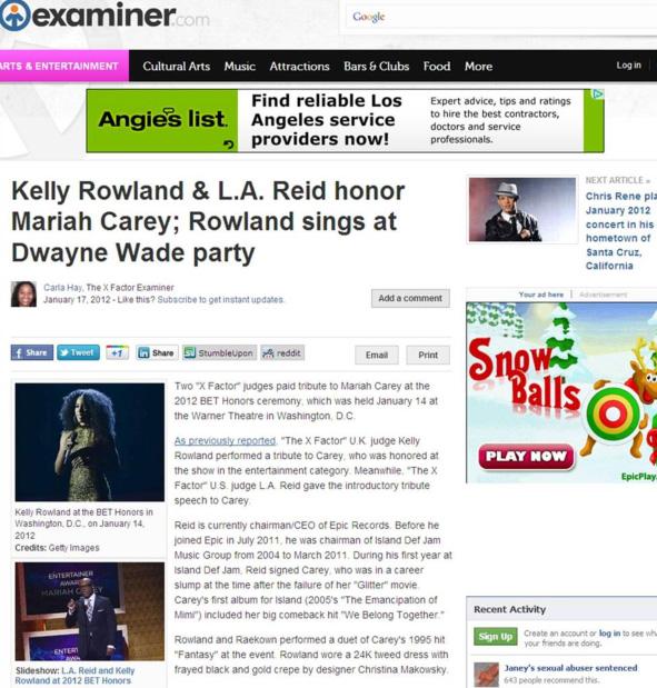 Examiner - Christina Makowsky kelly rowland press hit