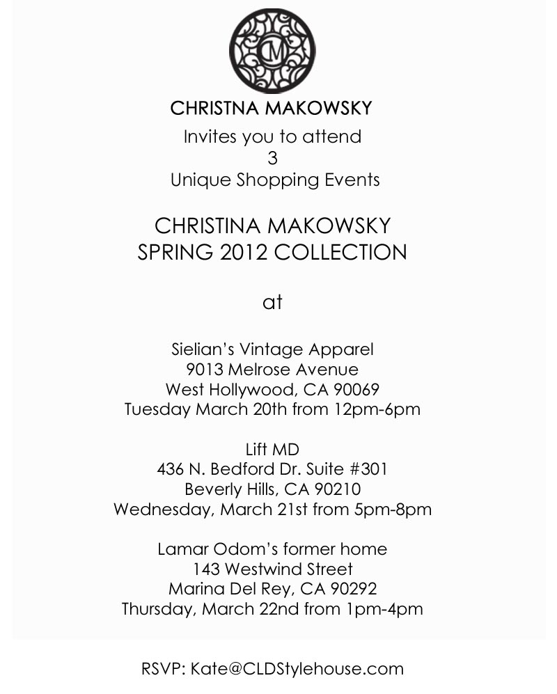 Popups Trunk Shows Christina Makowsky Social Media