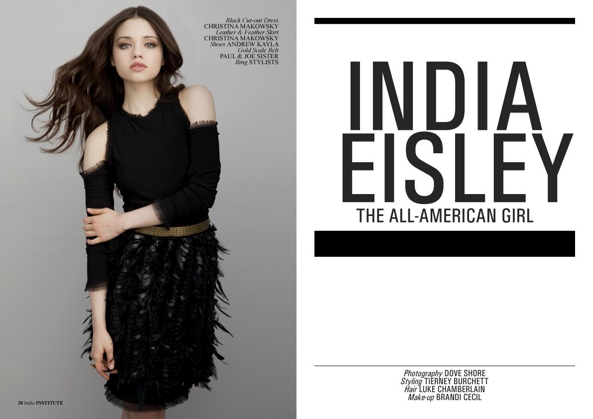 institute magazine featuring india eisley in christina