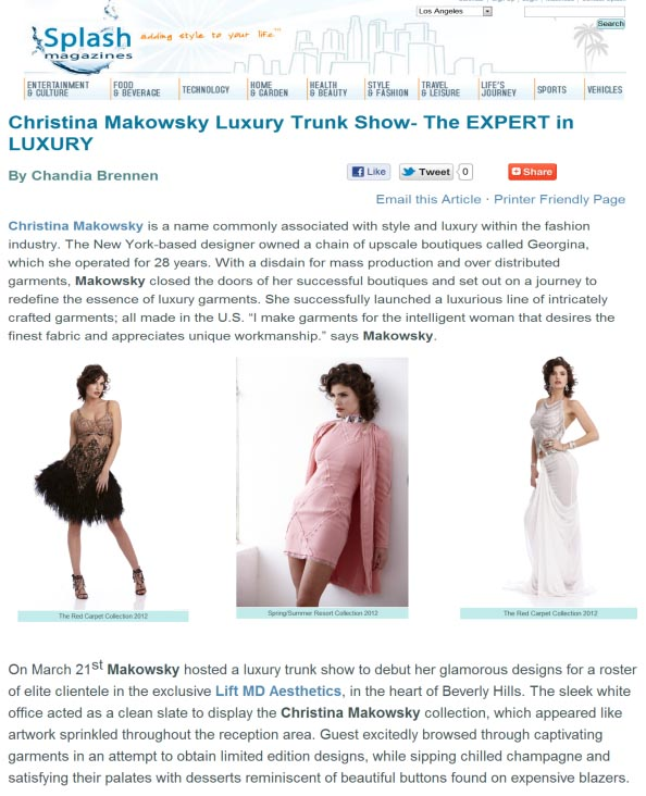 LaSplash ChristinaMakowsky trunk show-1